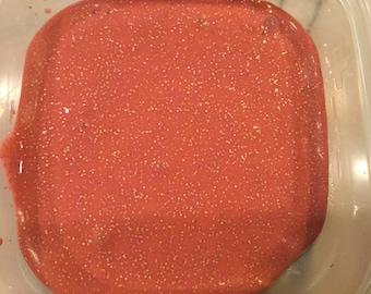 Coral Glitter Slime