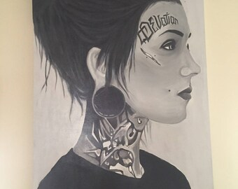 60x90 Portrait (acrylic on canvas)
