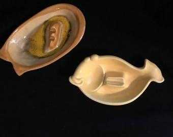 Maddux Pottery Of California 2 Ashtrays