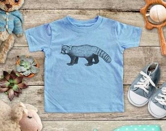Red Panda Illustration graphic Zoo animal wild kingdom Shirt - Baby bodysuit Toddler youth Shirt cute birthday baby shower gift