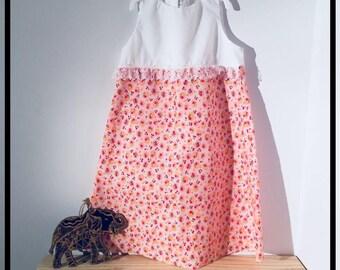 Little girls summer dress + zip