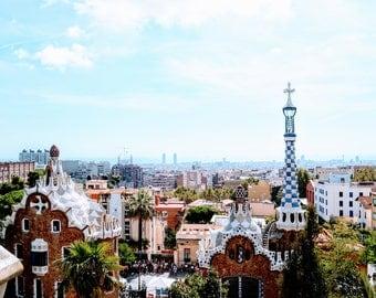 Barcelona Print, Park Güell Photography, Spanish Wall Art, Travel Photography, Home Decor, Wall Art,Photography Prints, Gaudi