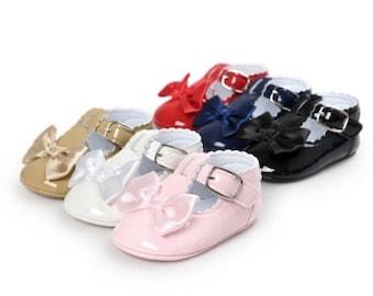 Baby Girl Bow Pram Shoes