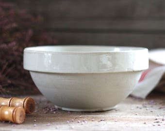 French antique handmade pottery jar. French antique enamel pot. French antique pottery. French salad bol. Tian pottery. Confit pot. Bowl