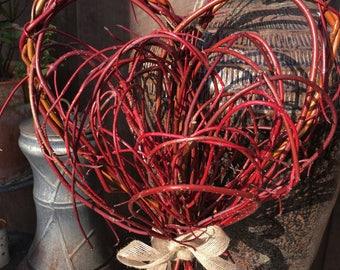 Handmade Willow & Dogwood Heart Wreath