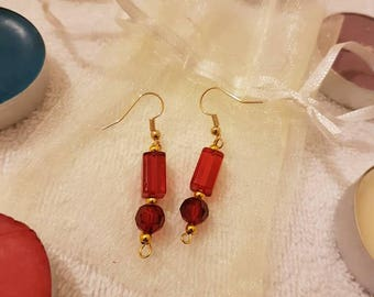 Red Lady beaded Earrings