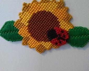 Handmade Sunflower Magnet