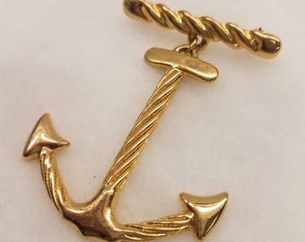 Goldtone anchor pin