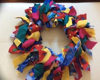 Cheerleader Fabric Wreath