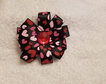 Valentine's Loop Hair Bow