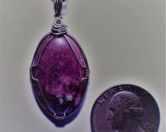 Lepidolite in sterling silver.