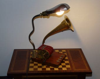 lamp shape gramophone