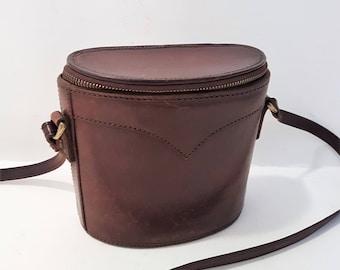Unusual Vintage Bosboom Cross Body Leather Purse.