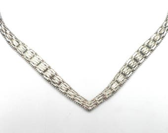 Ladies' Sterling Silver Very Classy Italian Neckpace 16 inches 28.5 Grams