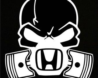 Honda skull mask Sticker Decal