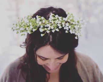 Baby's Breath Flower Crown