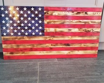 Hand made wooden flag