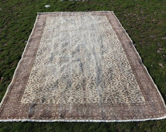 Large size turkish rug, 5.9 x 9.4 ft. Free Shipping home design hall rug, oriental rug, handknotted anatolian rug, oushak rug, MB568