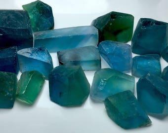 109 Grams Beautiful Green&Blue Color Rough Cut Grade Fluorite From Pakistan.