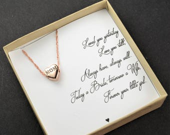 Mother of the Bride gift from bride daughter necklace wedding gift Mother of the Groom gift from son groom Forever your little girl boy
