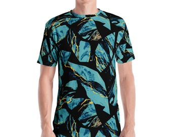 Mineral Camo Men's T-shirt Colorful Geometric Pattern