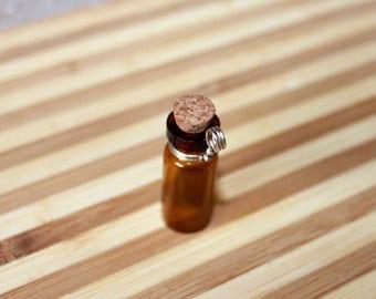 Glass tincture bottle pendant
