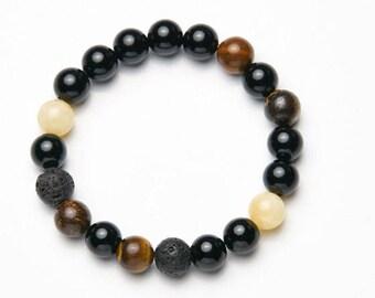Mens-Women's bracelet * Yellow dot */mens-Womens bracelet * Yellow dot *