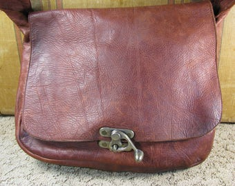 Hipster Style Supple Leather Satchel