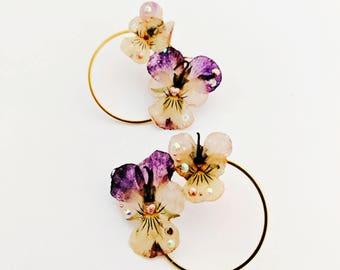 Pretty Pansy Earrings