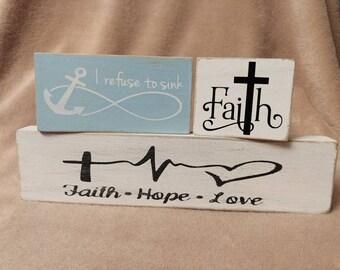 Faith decorative block