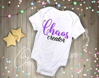 Custom Baby Onesie / Chaos Creator