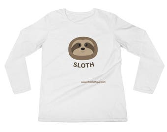 The Sloth Guy Ladies' Long Sleeve T-Shirt
