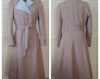 Women's 1980s tan j.gallery trench coat sz 8/9