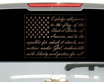 American Pledge of Allegiance - Barn Wood
