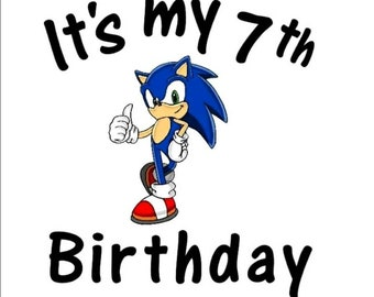 Sonic the Hedgehog inspired Birthday Shirt