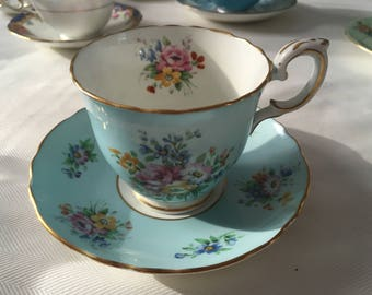 Crown Staffordshire Cup and Saucer