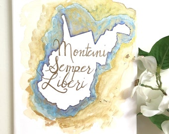 Montani Semper Liberi (Mountaineers are Always Free) Watercolor Painting