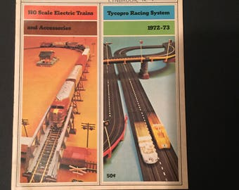 Tyco Ho Trains Slot Car Catalog 1972 1973 Vintage Trains Slot Cars