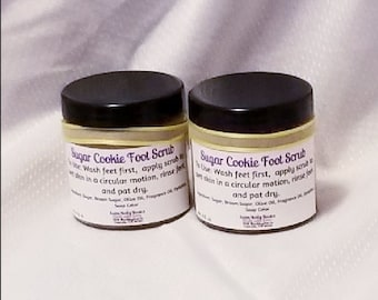 Sugar Cookie Foot Scrub Moisturizes while gently exfoliating