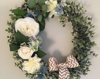 Something Blue Wreath