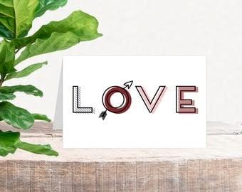 Printable Valentine's Card | LOVE
