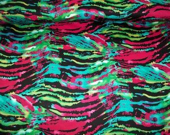 Cotton fabric Stretch Bora-Bora L543-001 violet-green-blue