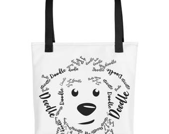 Black Doodle - Tote bag, GoldenDoodle LabraDoodle, Golden Doodle, SheepaDoodle, Bernedoodle