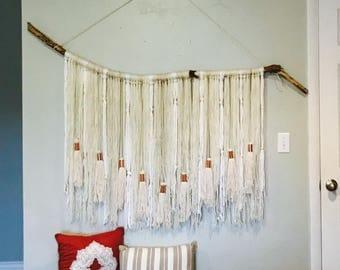 Large macramé wall hanging/ Boho decor, wall art.