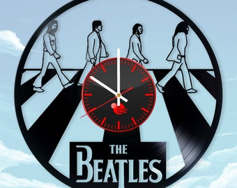The Beatles Abbey Road Vinyl Record Wall Clock Wall Art Wall Decor Home Decor