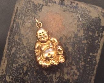 Buddha gold charm