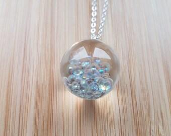 Frozen Bubble Small Sphere Necklace