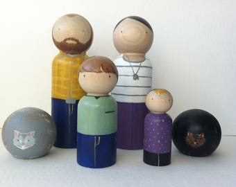 Custom Peg Family of 6