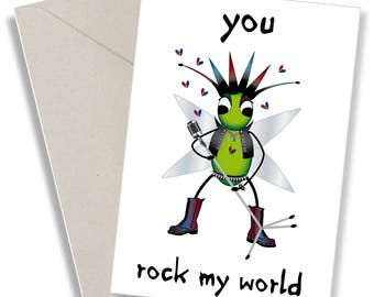 Cute quirky love card