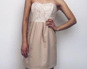 Vintage Dress ICHI Dress Women Evening Cocktail Party Dress moonlight colour